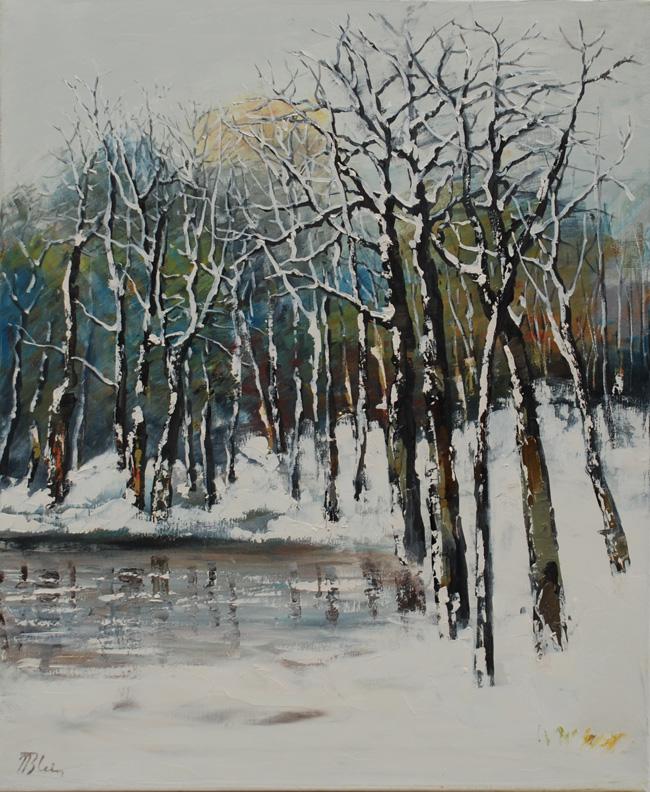 BLEI Nicolae - Foret l'hiver - 2006 - huile sur toile - 60 x 50 cm