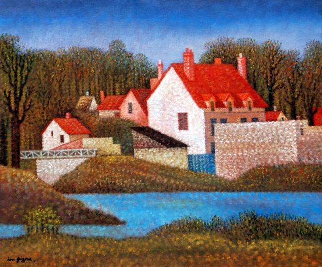 GRIGORE Ion - Vers le pont des Grandes All+ęes - 2011 - Huile sur toile - 54 x 65 cm