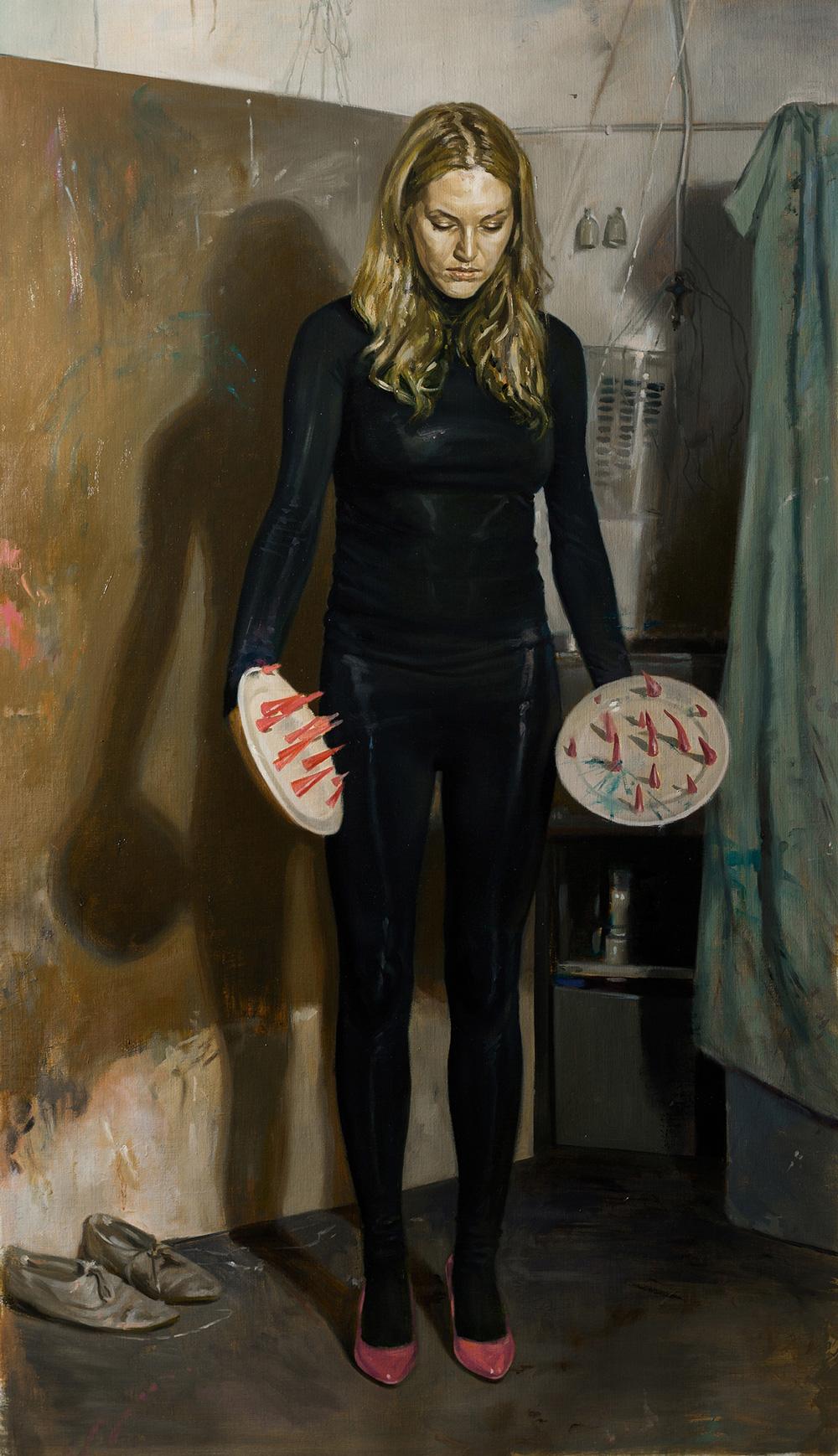 The finish girl, 2013, oil on linen, 130 x 74,5 cm