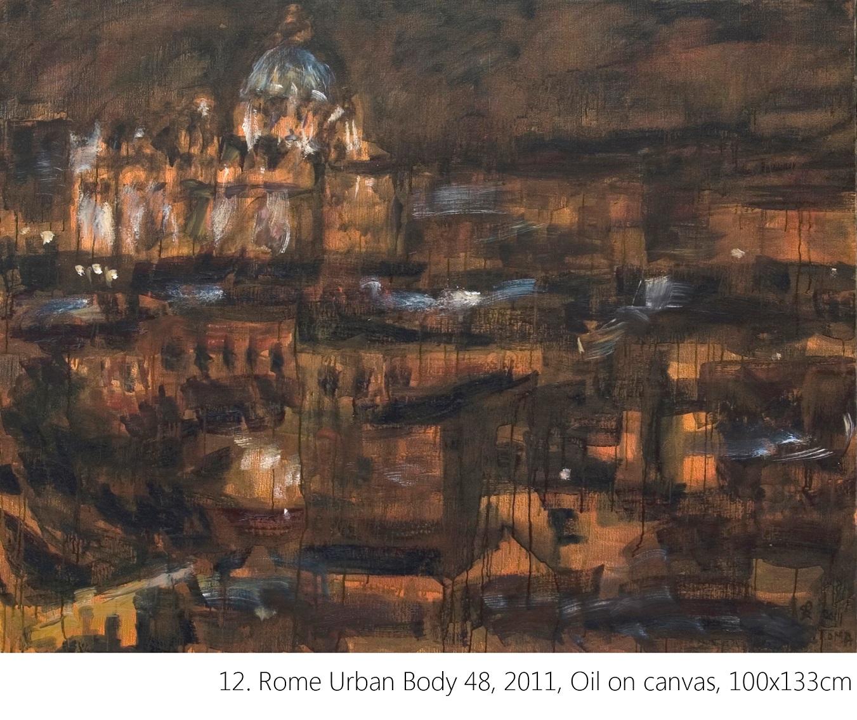 12. Rome Urban Body 48, 2011, Oil on canvas, 100x133cm