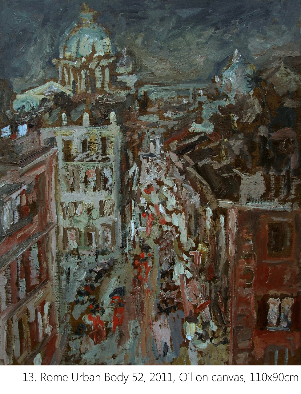 13. Rome Urban Body 52, 2011, Oil on canvas, 110x90cm