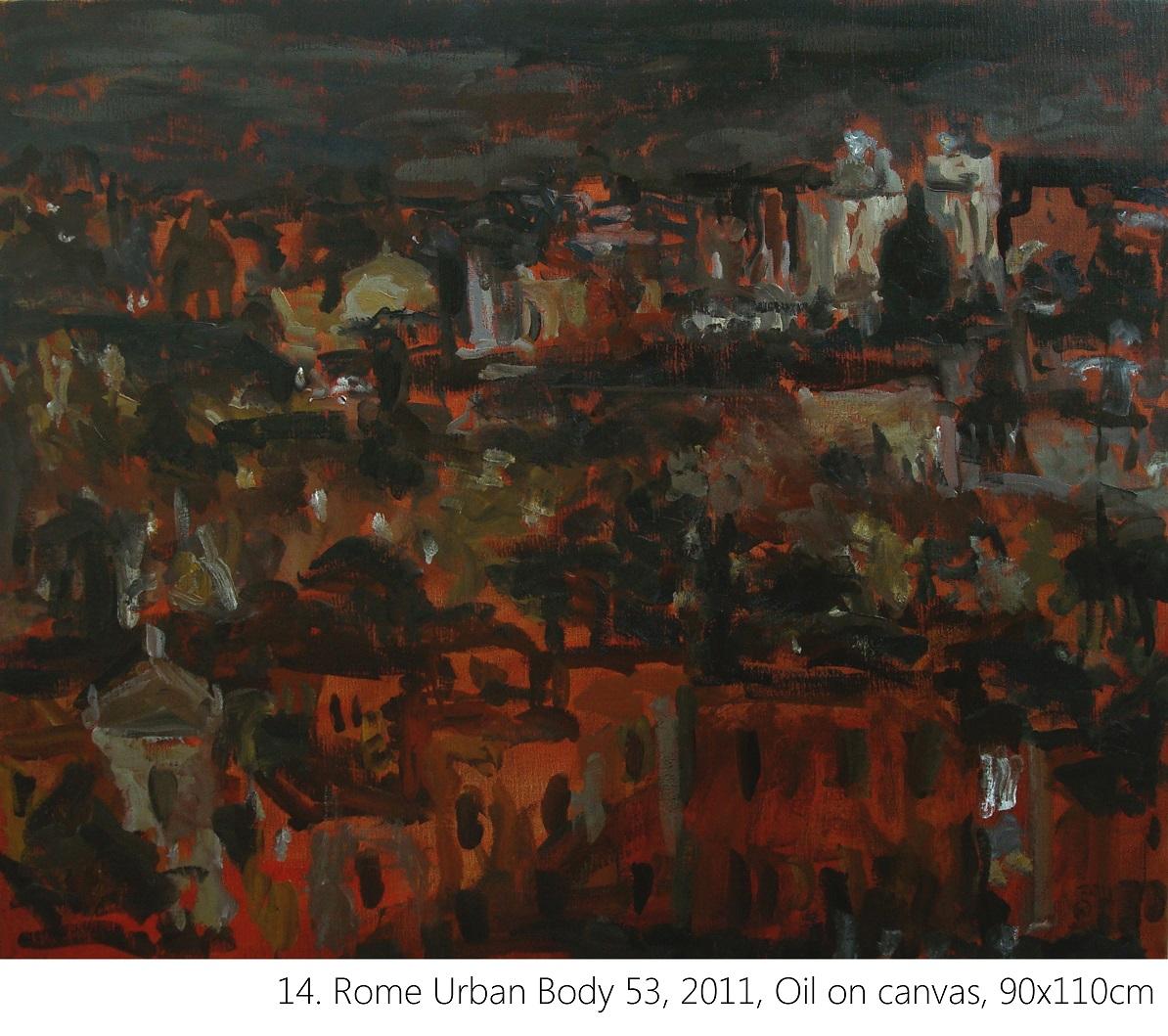 14. Rome Urban Body 53, 2011, Oil on canvas, 90x110cm