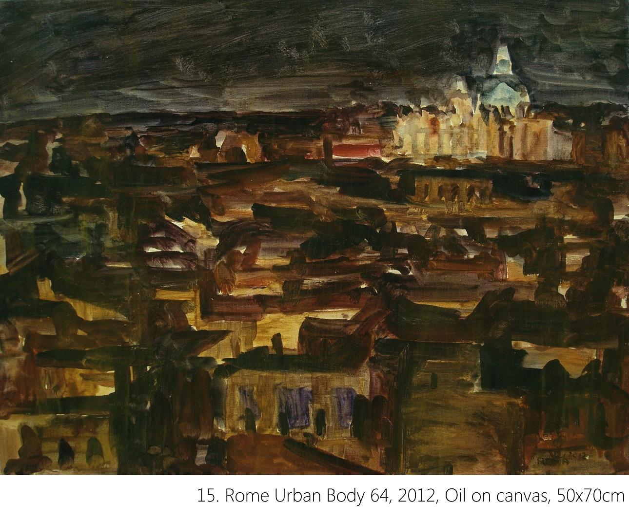 15. Rome Urban Body 64, 2012, Oil on canvas, 50x70cm