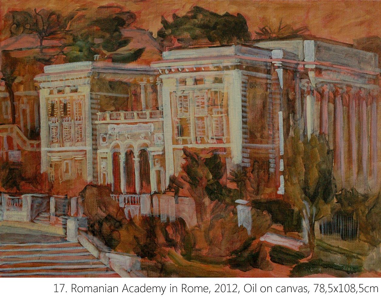17. Romanian Academy in Rome, 2012, Oil on canvas, 78,5x108,5cm