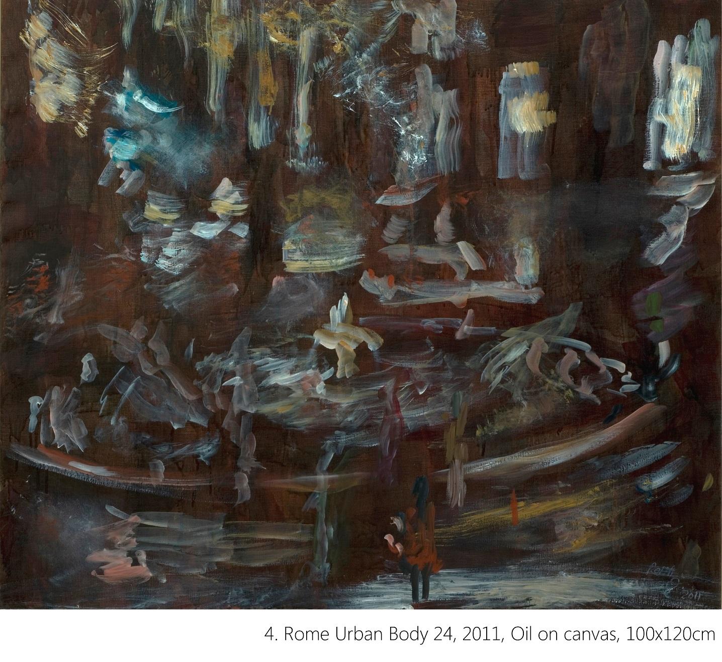 4. Rome Urban Body 24, 2011, Oil on canvas, 100x120cm