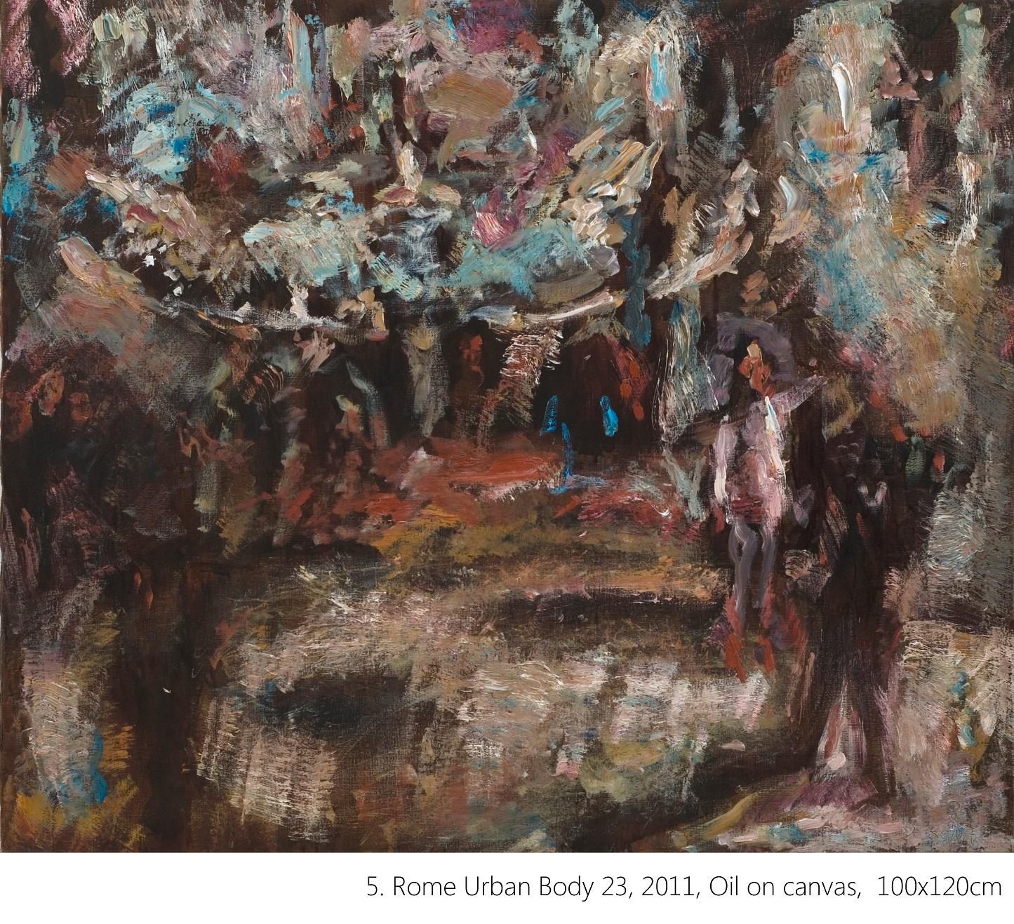 5. Rome Urban Body 23, 2011, Oil on canvas, 100x120cm