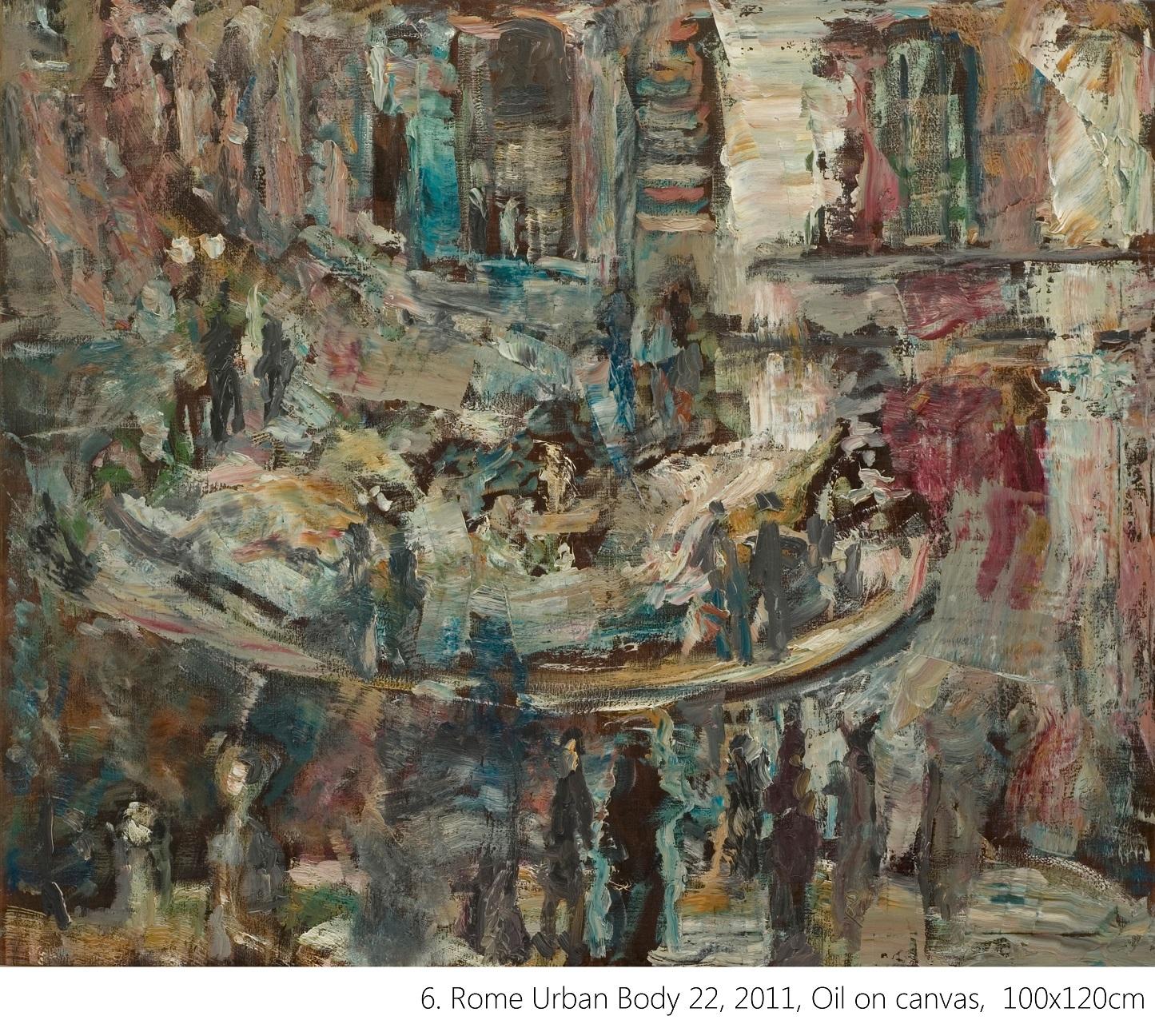 6. Rome Urban Body 22, 2011, Oil on canvas, 100x120cm