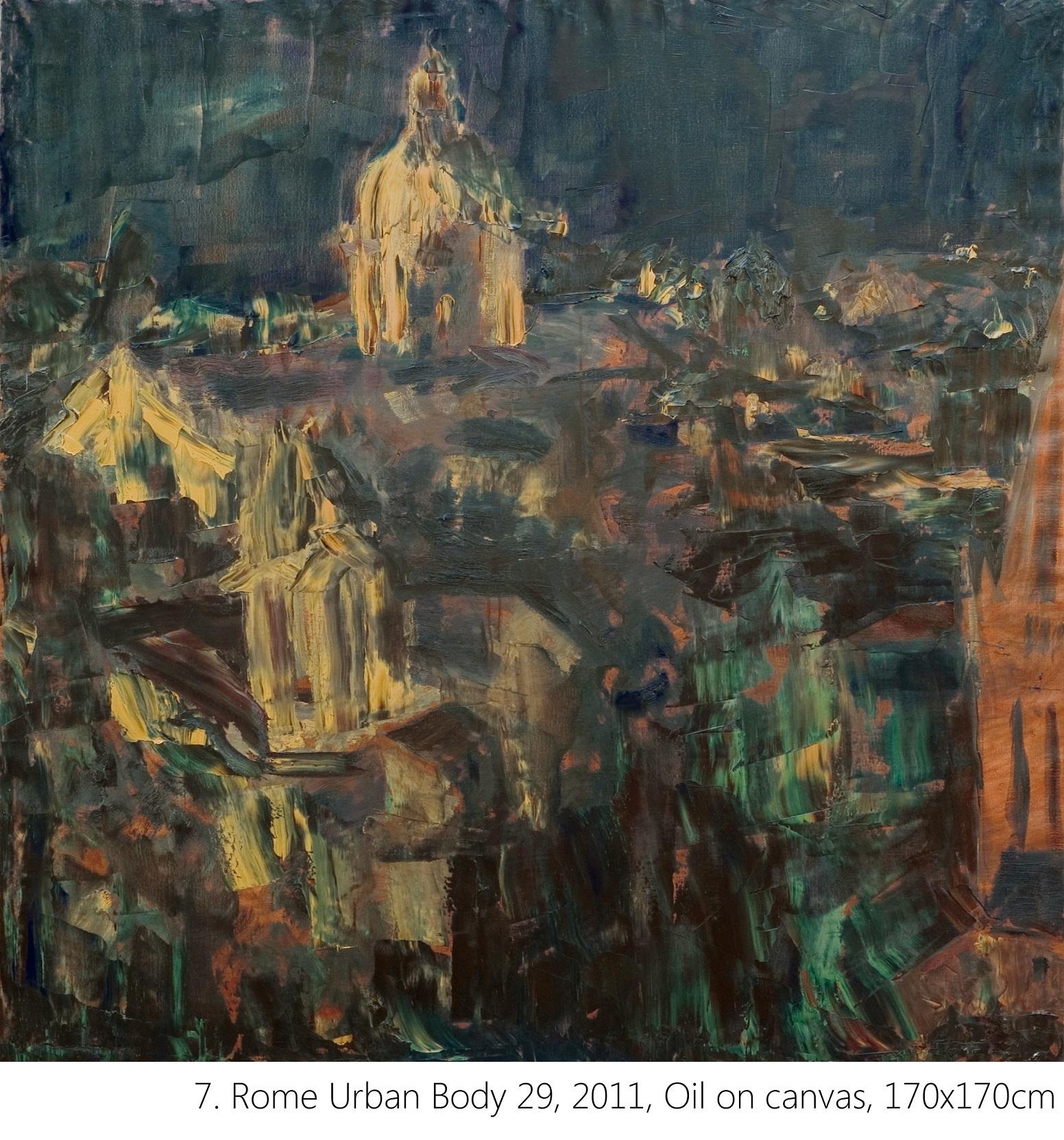 7. Rome Urban Body 29, 2011, Oil on canvas, 170x170cm