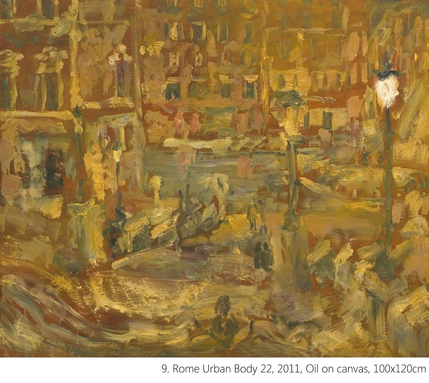 9. Rome Urban Body 22, 2011, Oil on canvas, 100x120cm
