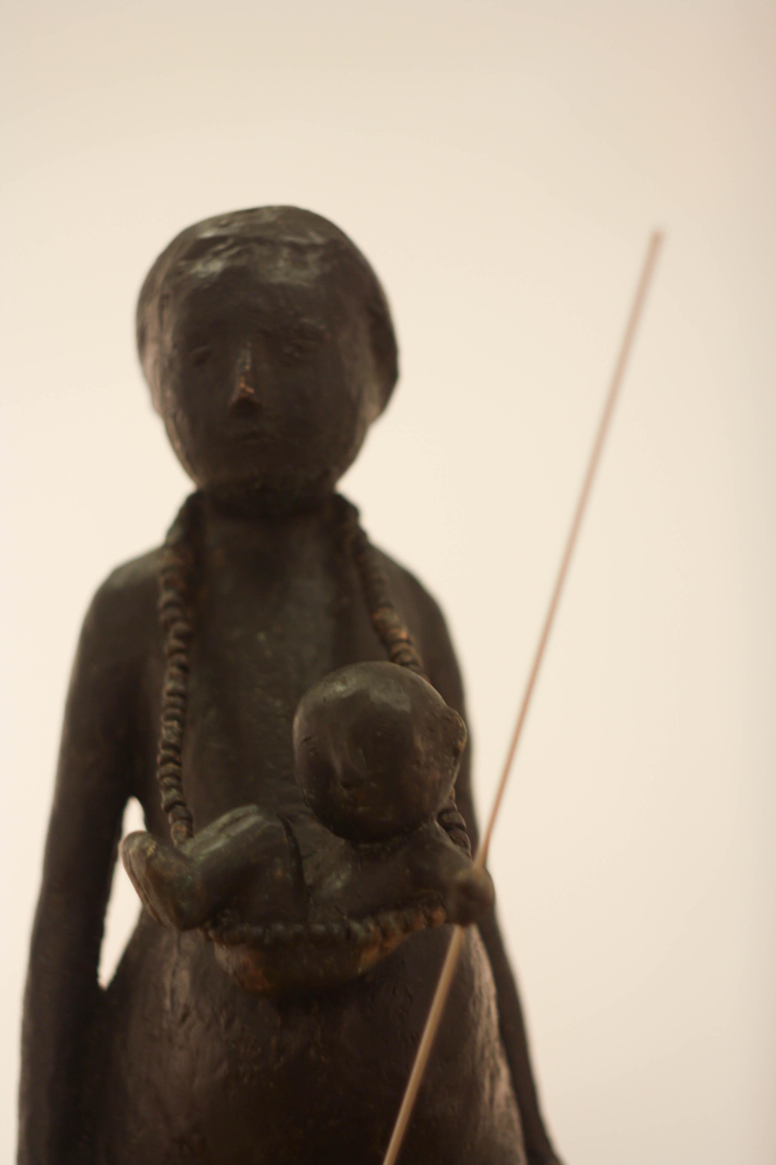 Virgil Scripcariu, Maternitate, 2014, bronz, 65 x 34 x 17 cm [detaliu]