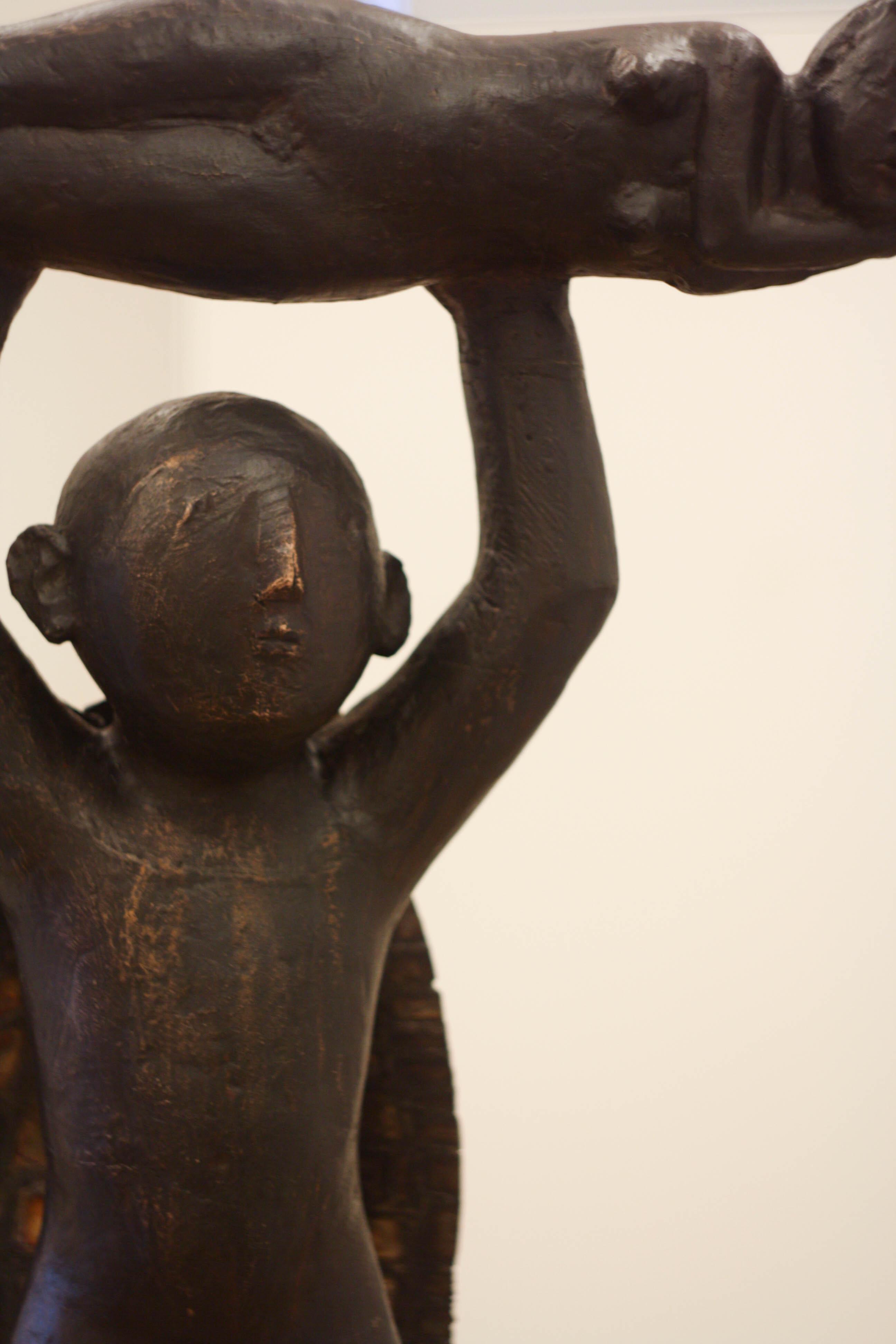 Virgil Scripcariu, Supermam 2014, bronz, 101 x 56 x 72 cm [detaliu 2]