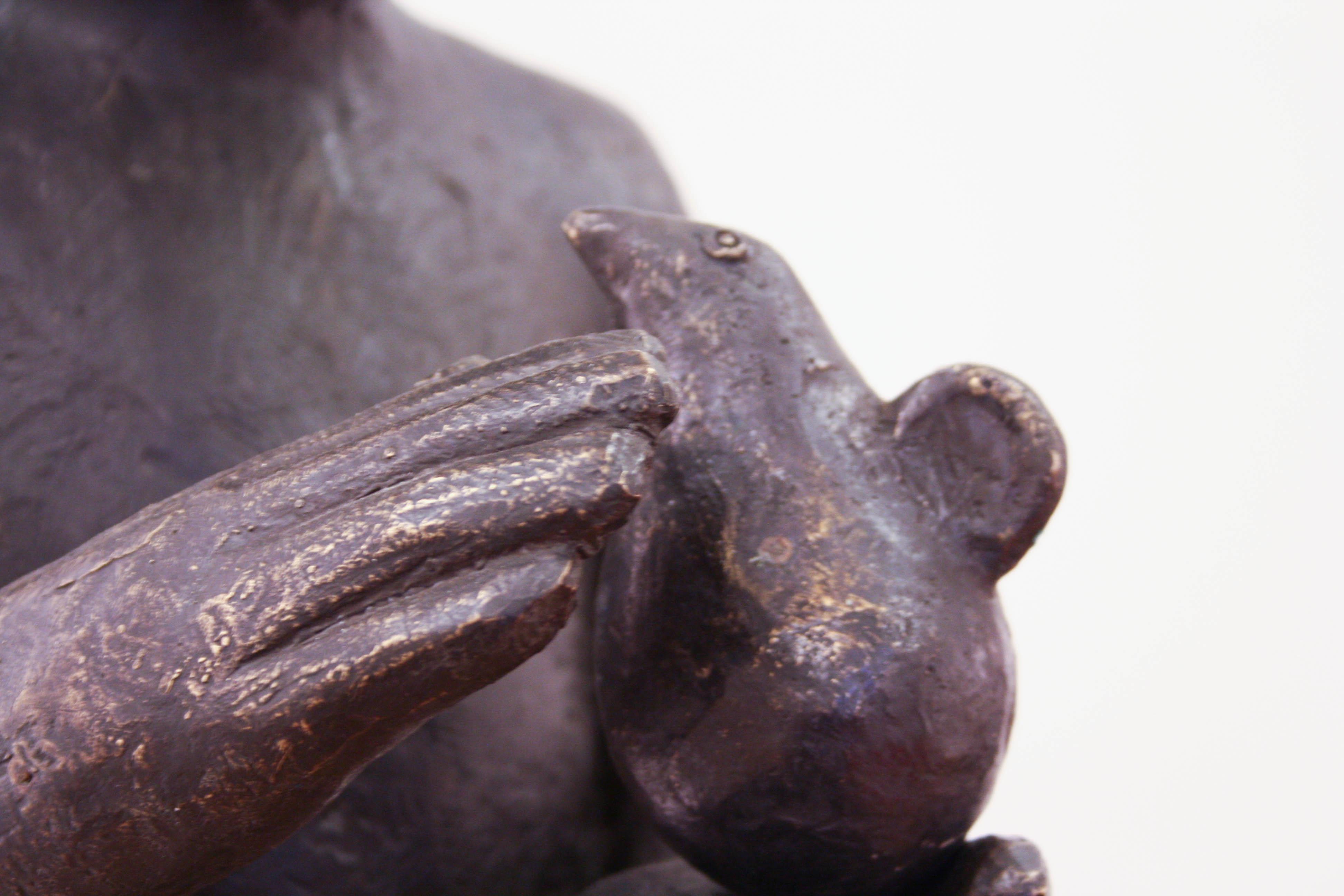 Virgil Scripcariu, Uimire, 2014, bronz, 79 x 30 x 25 cm [detaliu]