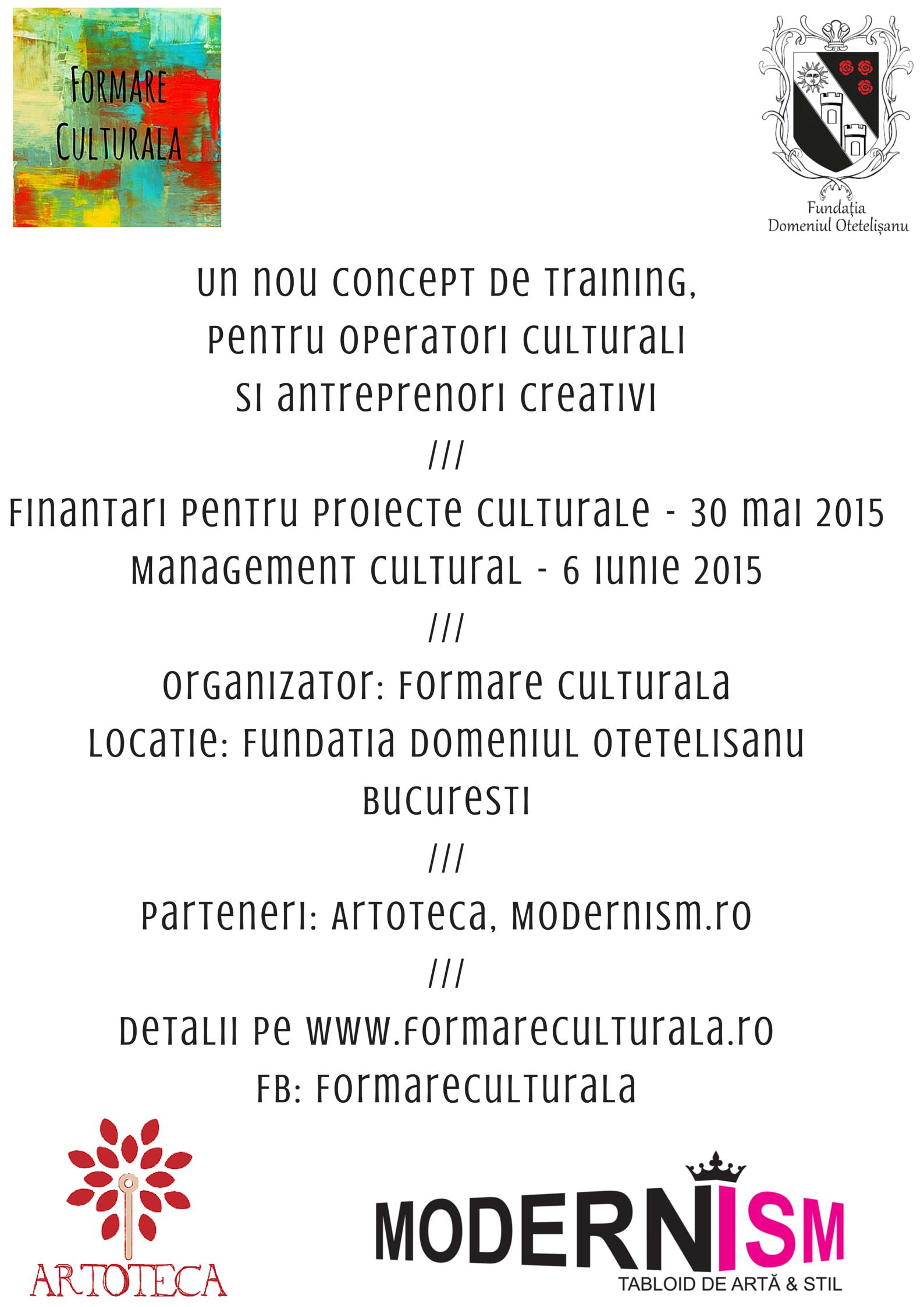 Cursuri Formare Culturala_primavara 2015