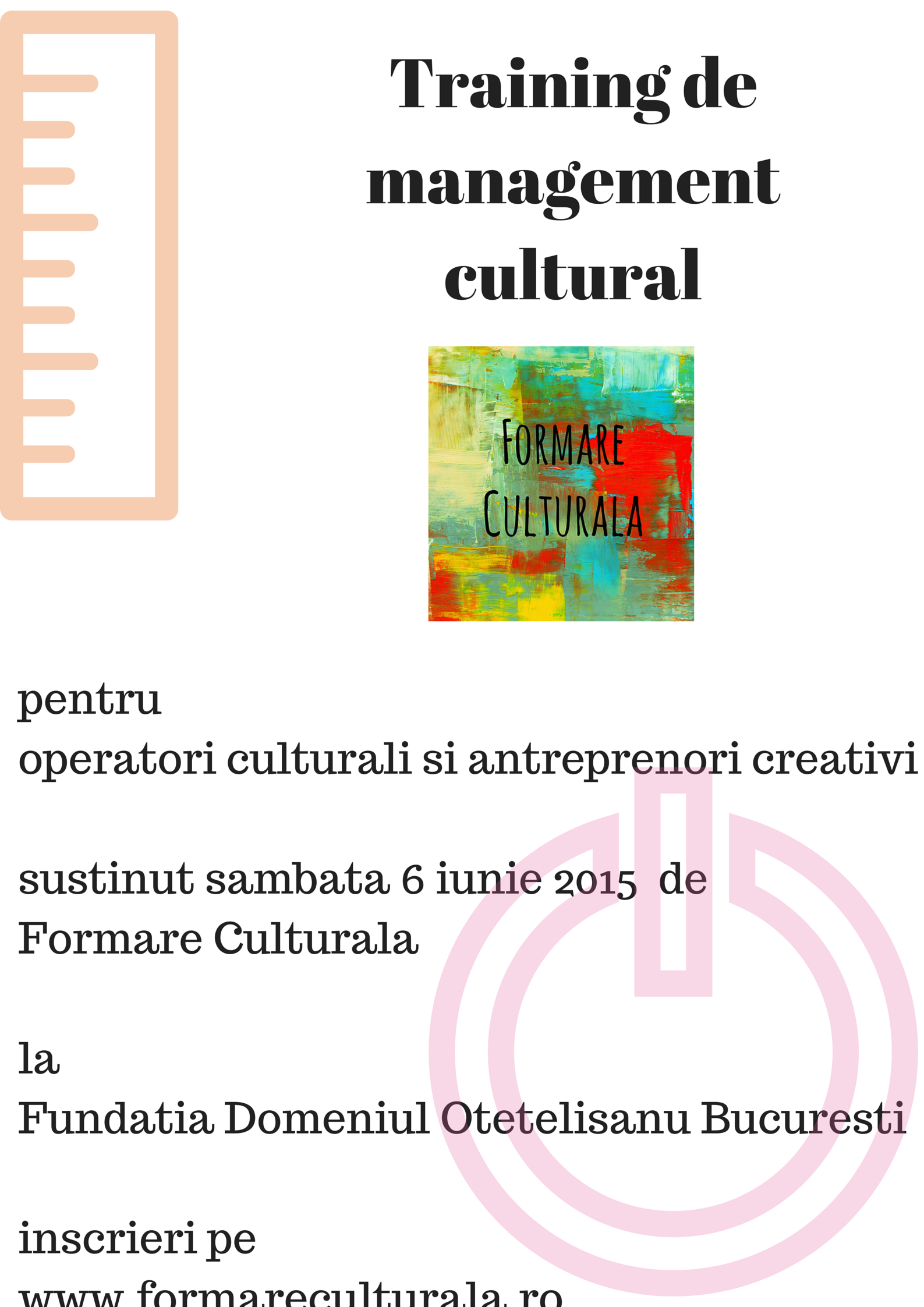 Training de managment cultural Formare