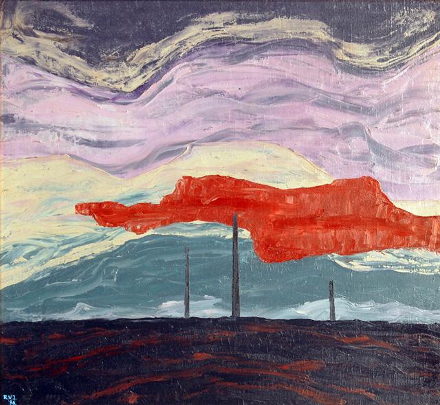 Epicentru-26 aprilie 1986 - ulei-pânză, 65,5 x 72 cm. 1986