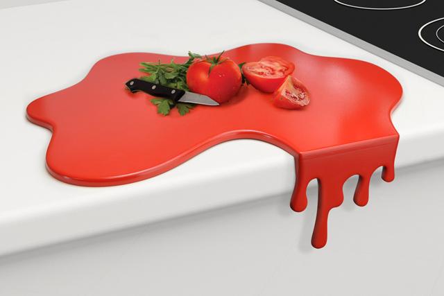 red-paint-splash-chopping-board