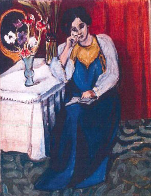 'Reading Girl in White and Yellow' by Henri Matisse.