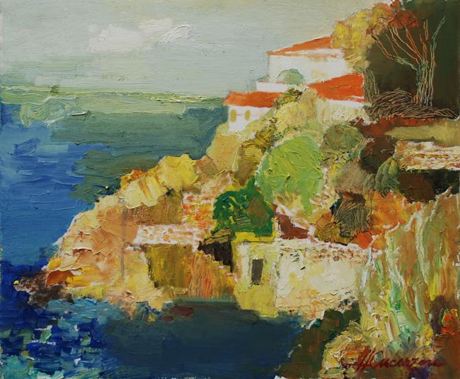 Cucerzan Horea - Bord de mere a Collioure - 2010 - huile sur toile - 50 x 60 cm