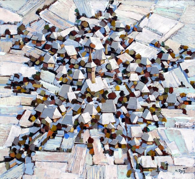 DAN Aurel - Village CLXXVIII - 2007 - 43 x 48 cm