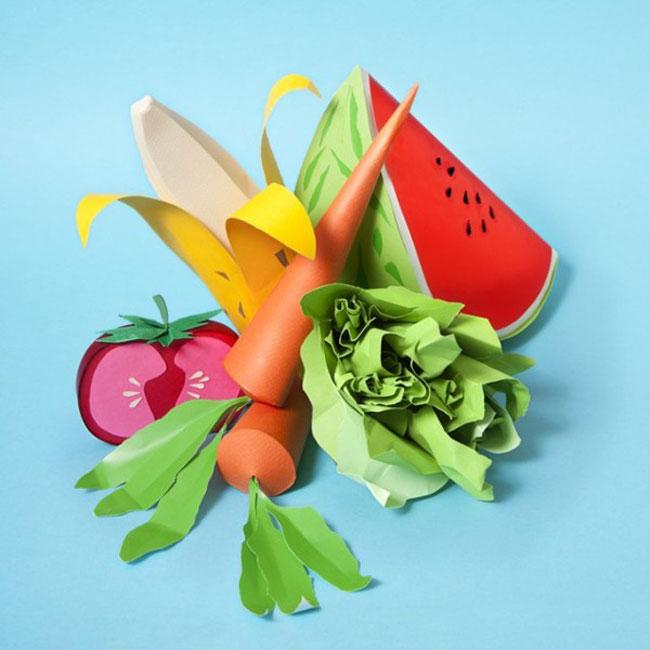 Delightful Papercraft Food & Grocery Sculptures (1)