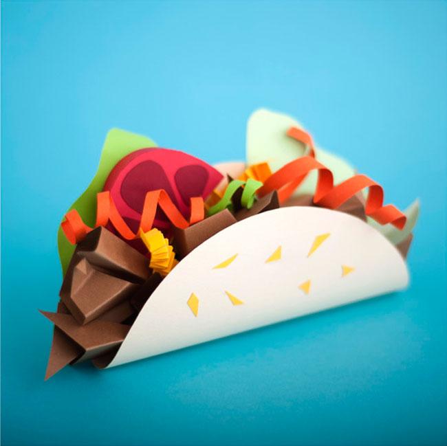 Delightful Papercraft Food & Grocery Sculptures (2)