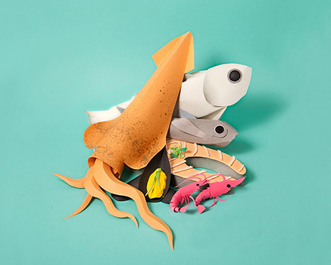 Delightful Papercraft Food & Grocery Sculptures (3)