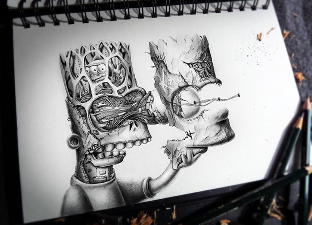 creepy graphite drawings (1)