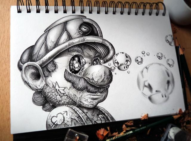 creepy graphite drawings (2)