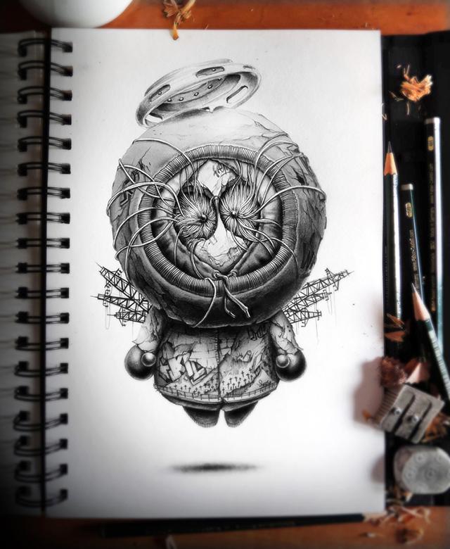 creepy graphite drawings (4)