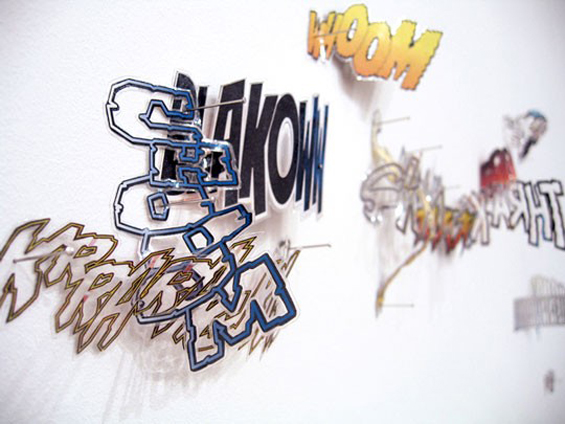 19_movie-soundtrack_plastified-cutted-comics-pined-on-the-wall_dimension-variable_2007