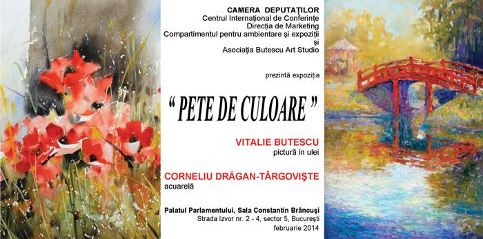 INVITATIE- Expo Corneliu Dragan-Targoviste Parlamentul Romaniei-Camera Deputatilor Sala Constantin Brancusi
