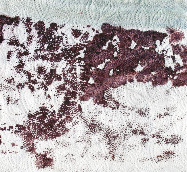 Winter-landscape,-acrilyc-on-apertowel,-30-x-30-cm,-2013