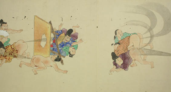 Ancient Japanese Scrolls From The Edo Period Depict Farting
