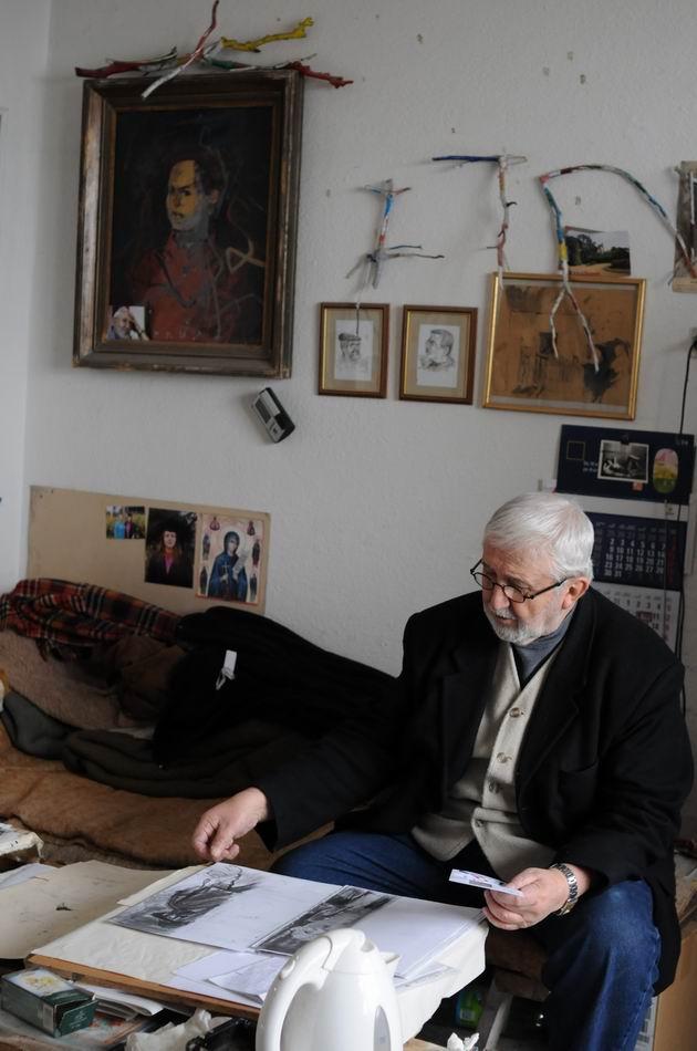 corneliu vasilescu in atelier foto lucian muntean 13