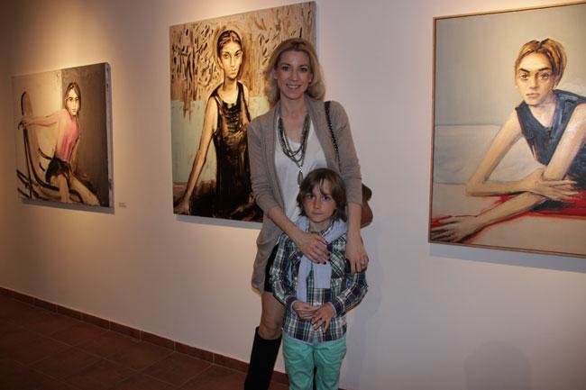 Sonia Argint Ionescu si fiul
