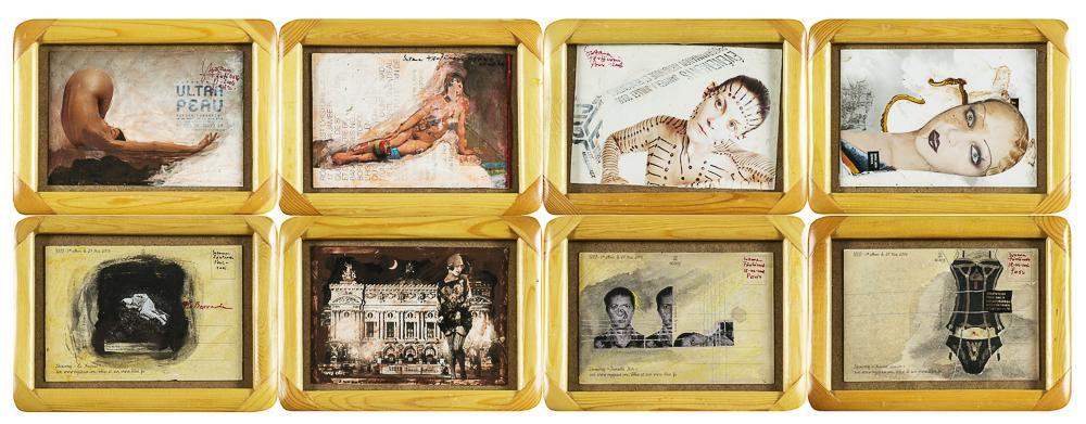 Fantanariu Baia Suzana Opt secvente din proiectul EUROTIC carti postale de autor tehnica mixta 10x15