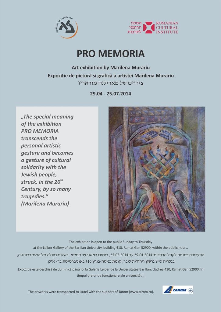 Poster PRO MEMORIA - Bar Ilan web