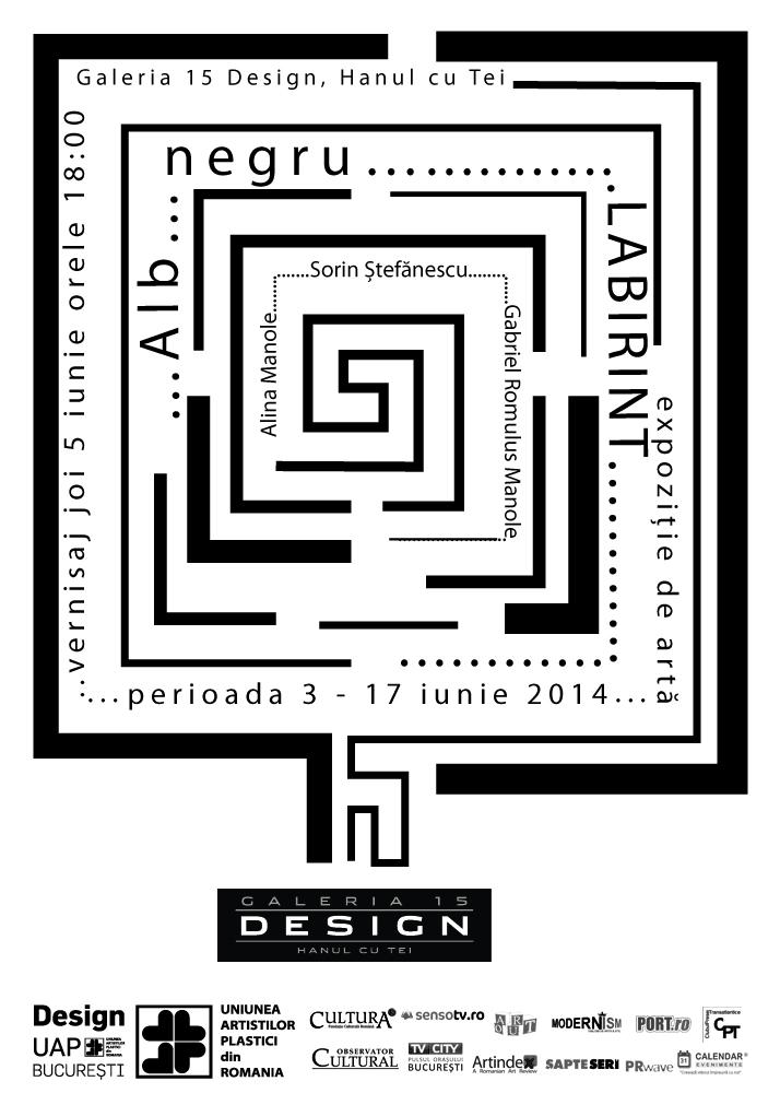 afis _expozitia Alb Negru Labirint