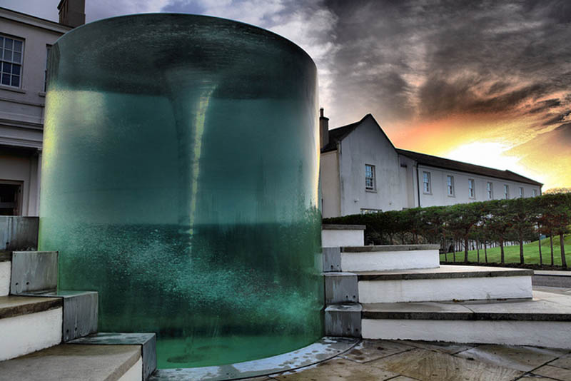 Awesome Vortex Water Sculpture by William Pye in UK (1)