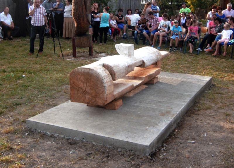 GHEORGHE ZARNESCU-ORIZONTALA,350x60cm,lemn b