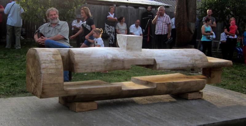 GHEORGHE ZARNESCU-ORIZONTALA,350x60cm,lemn c