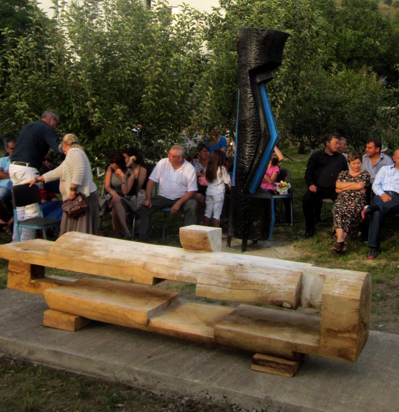 GHEORGHE ZARNESCU-ORIZONTALA,350x60cm,lemn