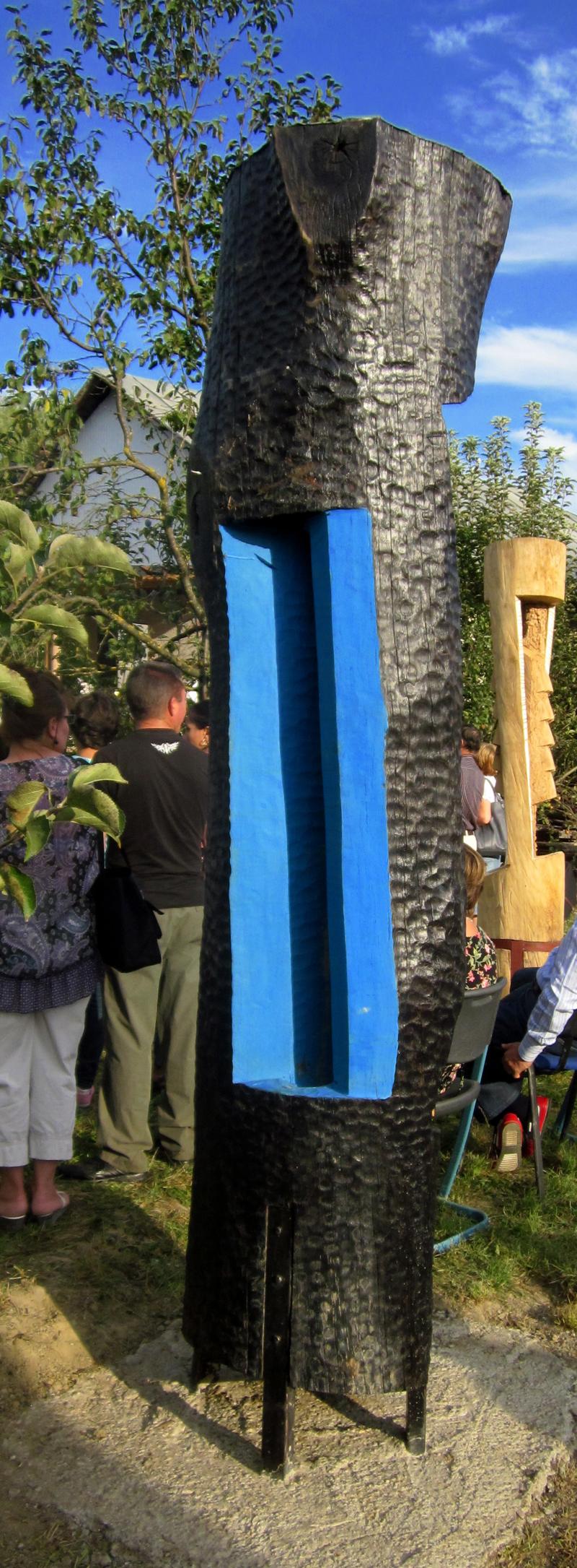 MAXIM DUMITRAS-Privire albastra,lemn,dim.350x60 cm c