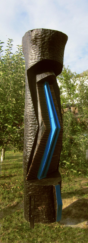 MAXIM DUMITRAS-Privire albastra,lemn,dim.350x60 cm