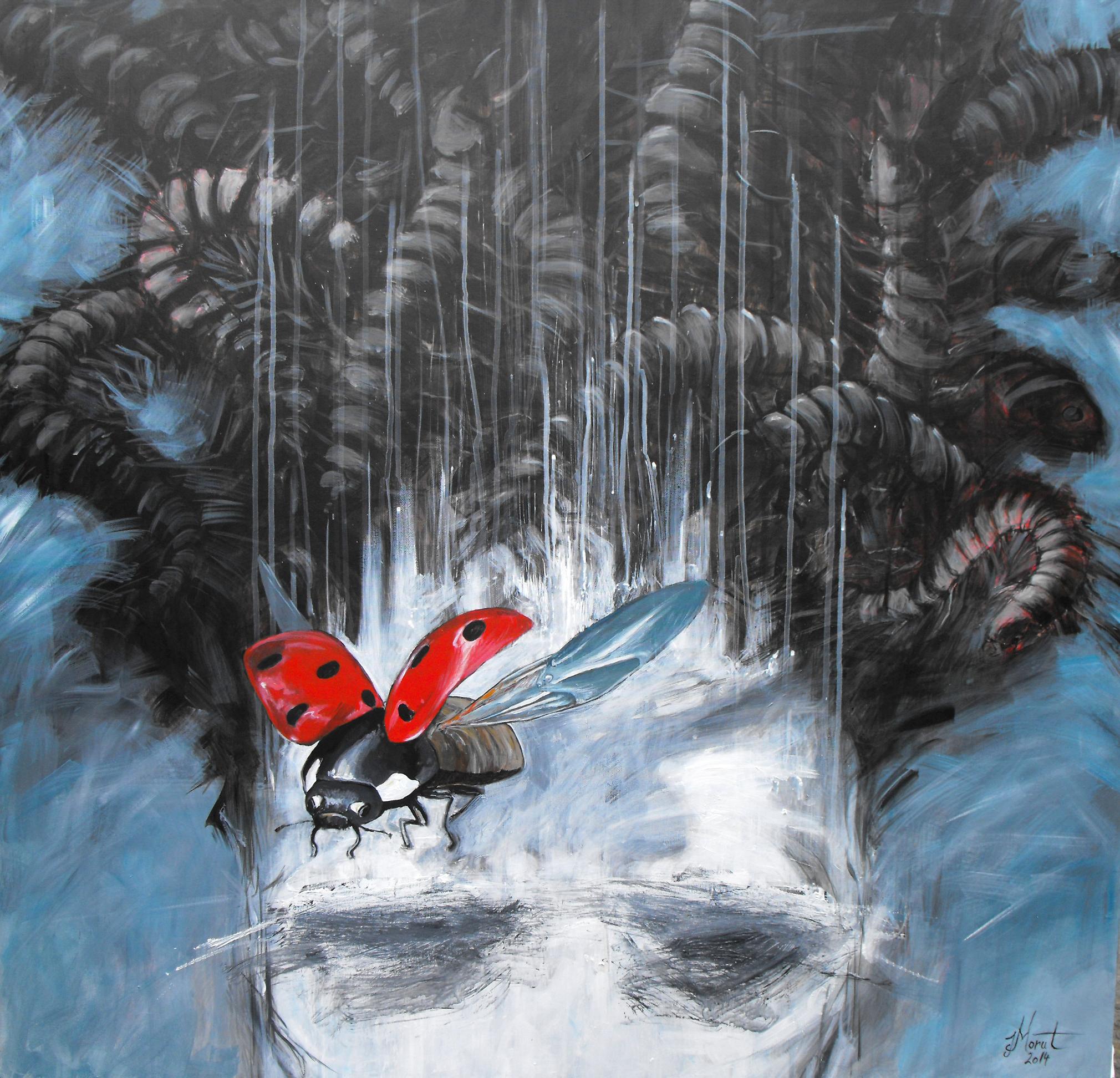 11 IERONIM MORUT, Vestea buna, 2014, acrilic pe panza, 100 X 100 cm