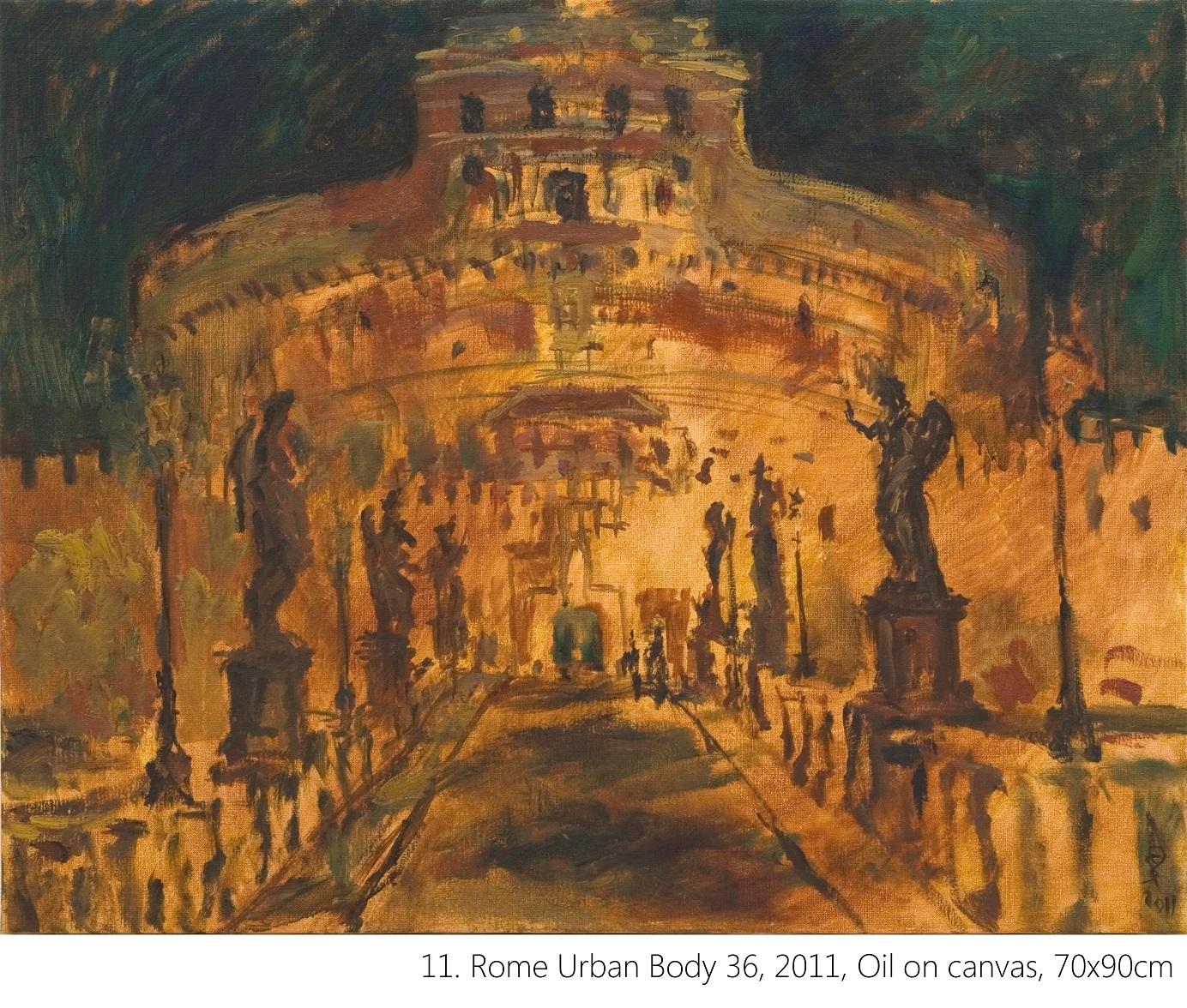 11. Rome Urban Body 36, 2011, Oil on canvas, 70x90cm