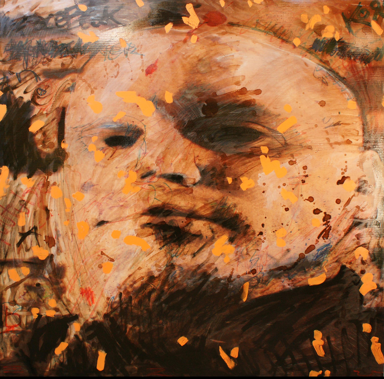 12 RADU HANGAN, Narcisism, 2014, tehnica mixta, 100 X 100 cm