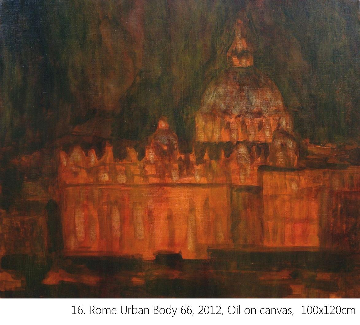 16. Rome Urban Body 66, 2012, Oil on canvas, 100x120cm