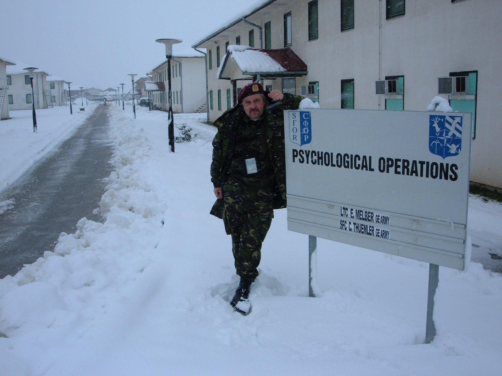 20 In camp Butmir - comandamentul SFOR din Sarajevo