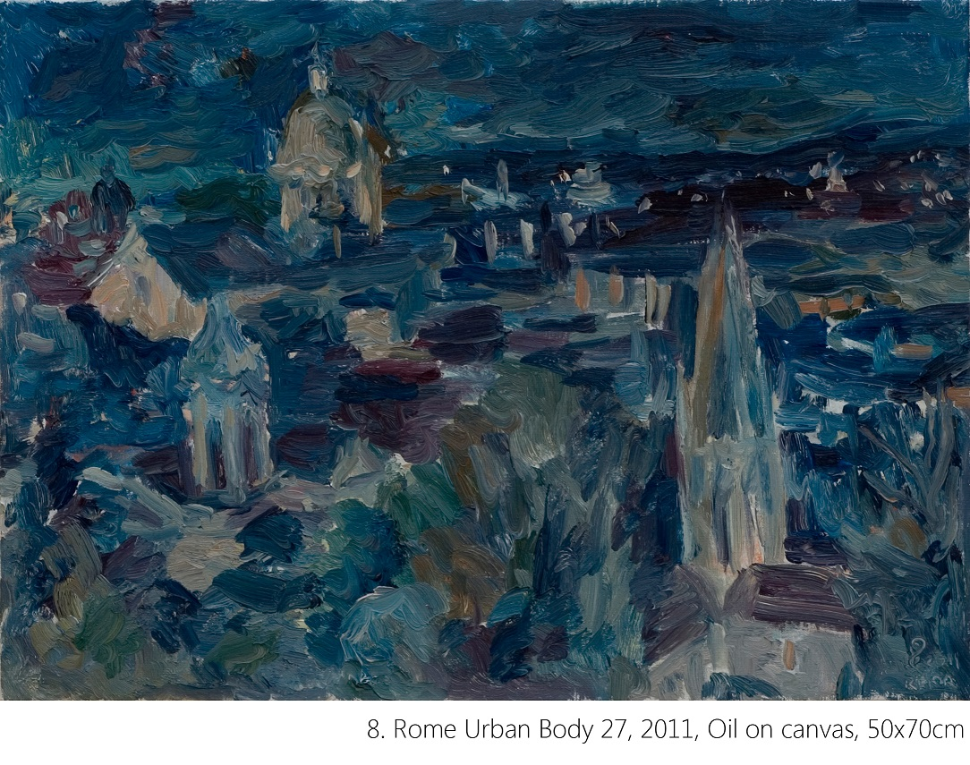 8. Rome Urban Body 27, 2011, Oil on canvas, 50x70cm n